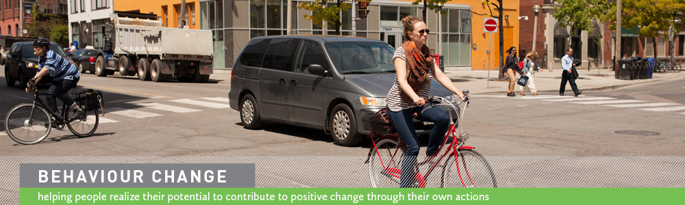Behaviour Change: helping people realize their potential to contribute to positive change through their own actions.