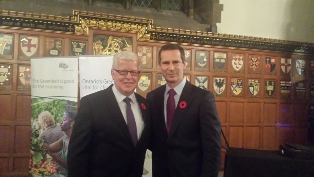Jim Faught (L) with Dalton McGuinty (R)