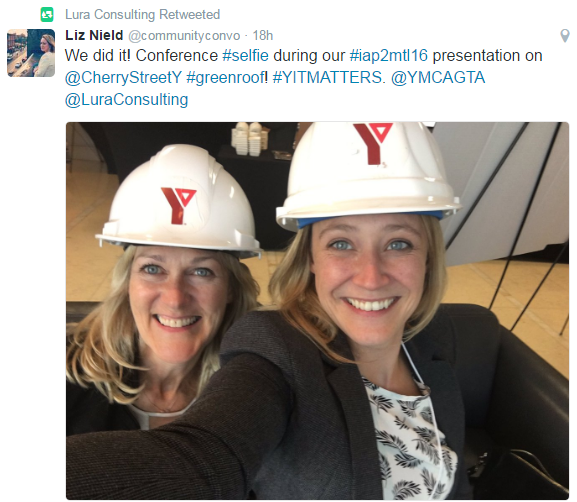 IAP2 selfie of Anne-Louise Blaikie (left) and Liz Nield (right).