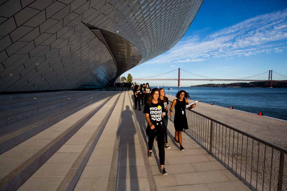 Opening of MAAT, Museum of Art, Architecture and Technology, on the Tagus River in Belém, Lisbon, designed by the British architect Amanda Levete.