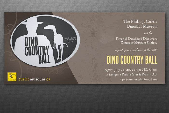 Invite Design: Currie Dinosaur Museum