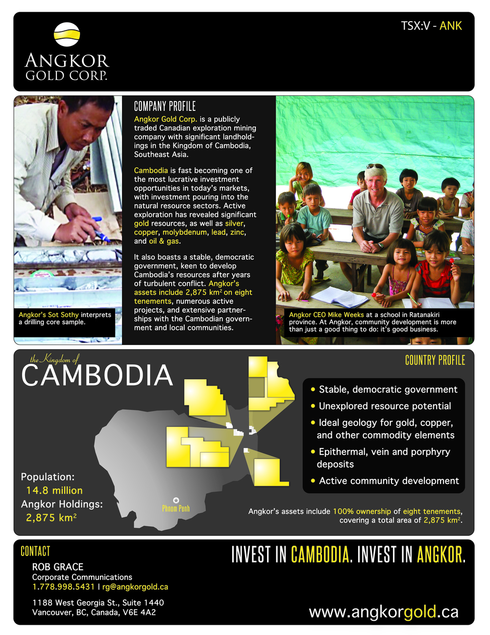 Brochure Design: Angkor Gold Corp.