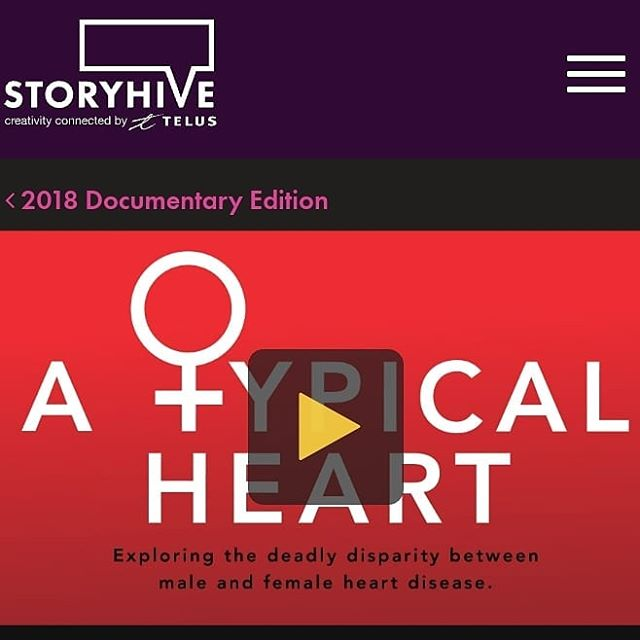 We're doing that #STORYHIVE thing again and could use your support. Please vote daily until Thursday at the link in my bio and help us make an important documentary about women's heart health. Thanks!