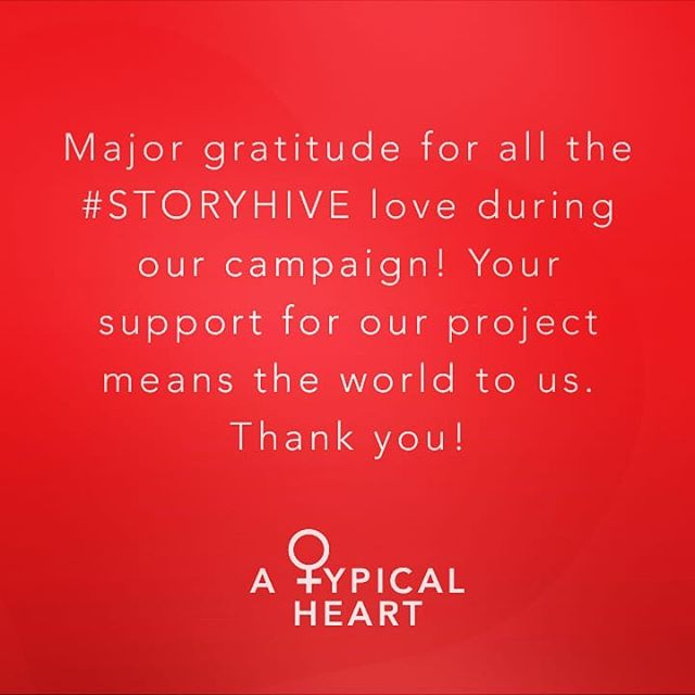 ❤️❤️❤️ Thanks to everyone for supporting #ATypicalHeart during our #STORYHIVE voting. We find out in September... 🤞