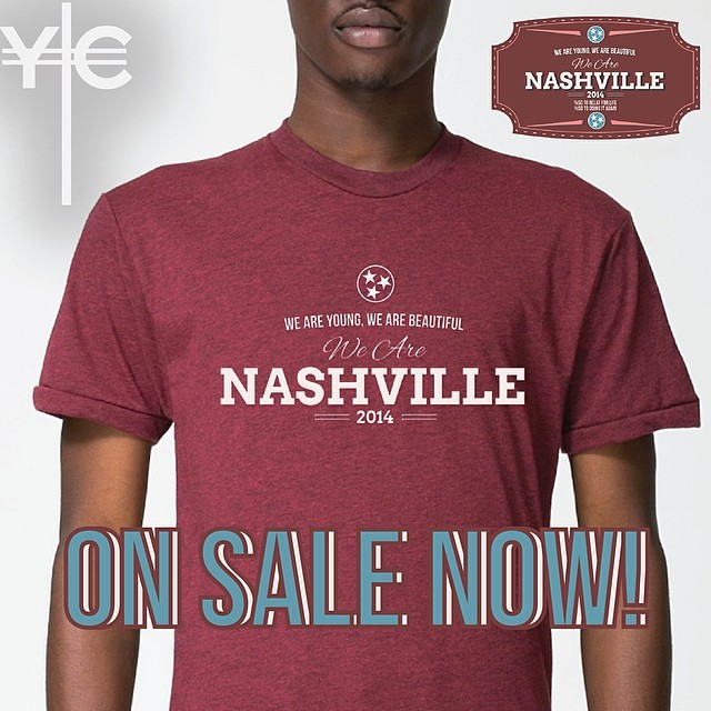 Our shirts are now available and for a limited time discount. Hand made in Nashville by @yachtclubco #WeAreNashvilleFestival