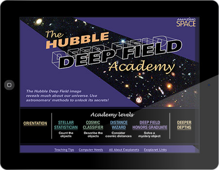 Hubble Deep Field Academy interactive