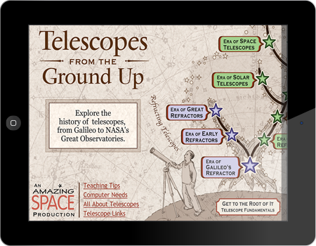 Telescopes From the Ground Up microsite