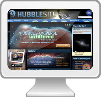 Visit the HubbleSite website.