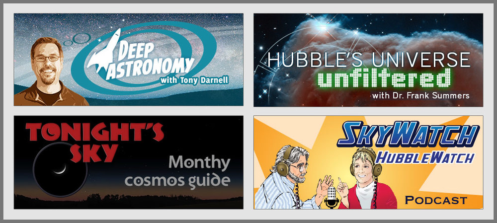 Explore astronomy with video and audio podcasts.
