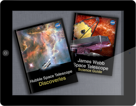 Hubble and Webb Telescope interactive books