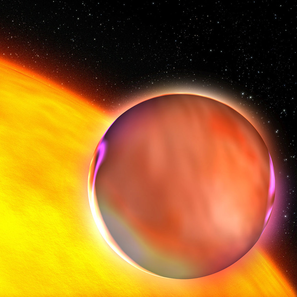 Artist's Concept: An Extrasolar Planet's Hazy Atmosphere