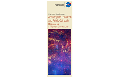 NASA SMD Astrophysics E/PO Resources sampler and quickstart guide (cover)