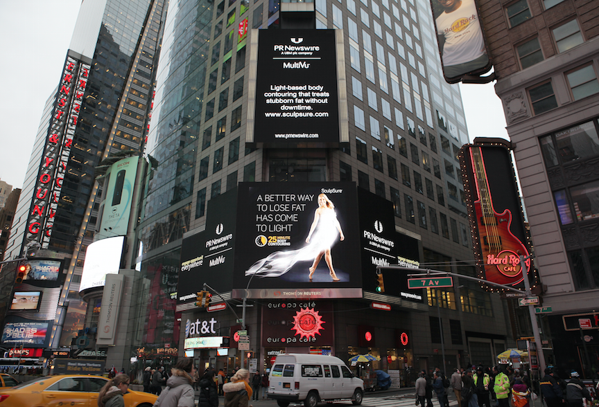 SculpSure® in Times Square, New York City