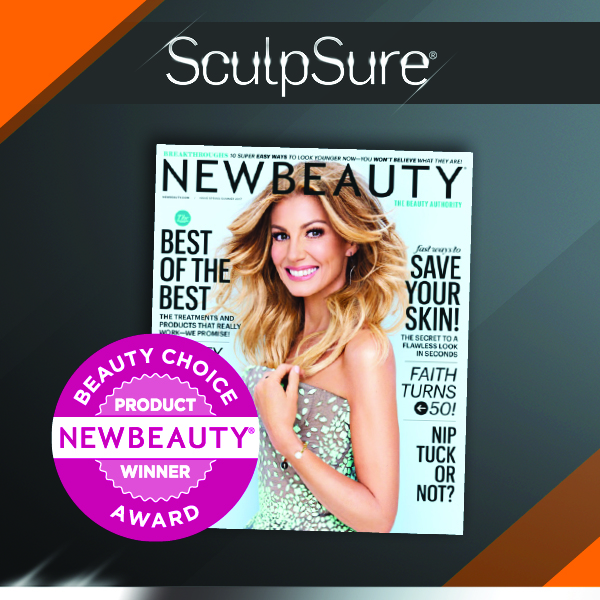 SculpSure® won Top 3 latest innovation + beauty breakthrough awards for 2017 in NewBeauty Magazine