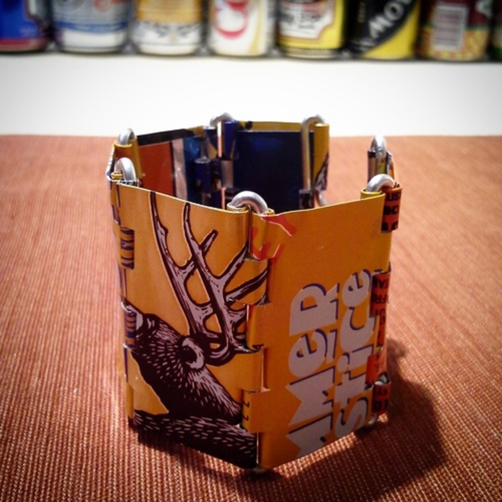 Junk-ture Collection from WiRealm by Tamara: 'Fanta' Aluminum Can Bracelet