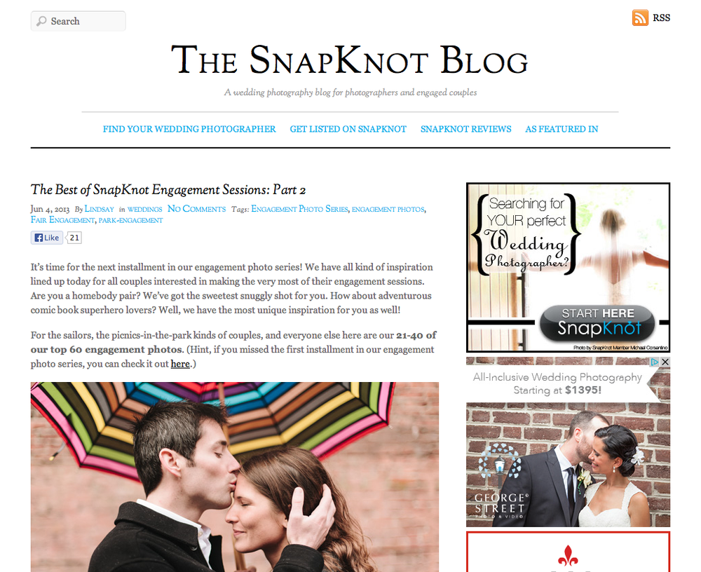 Best of engagement photography on SnapKnot featuring Catalina Jean Photography