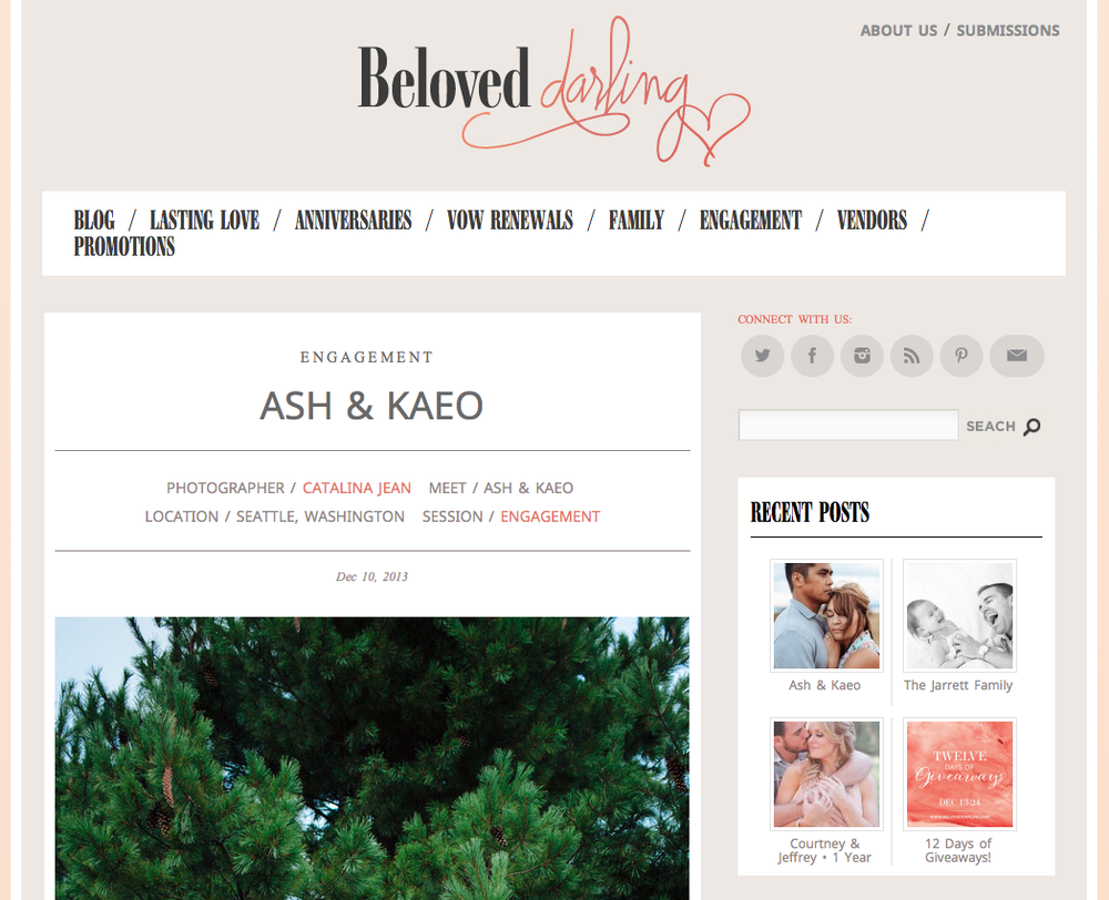 Catalina Jean Photography featured on Beloved Darling