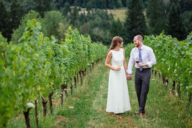 A beautiful vineyard wedding in Portland, OR at Garden Vineyards by Catalina Jean Photography