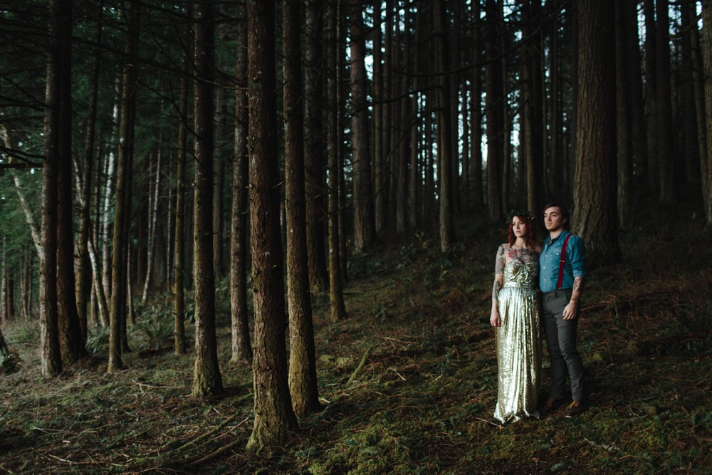 Portland forest bridal portraits by Catalina Jean Photography.