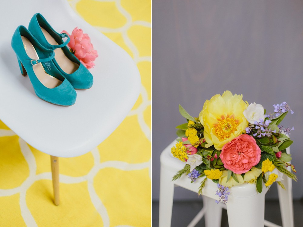 Bright wedding floral inspiration