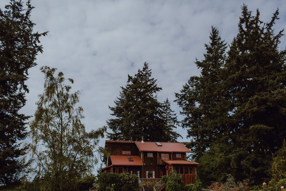 The Big House, a wedding venue on Lummi Island