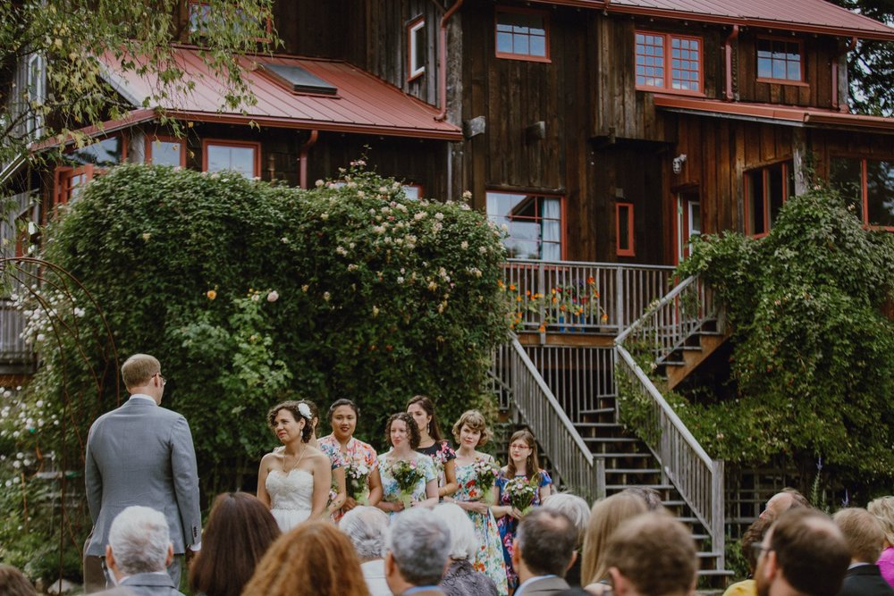 A wedding at Lummi Island's The Big House