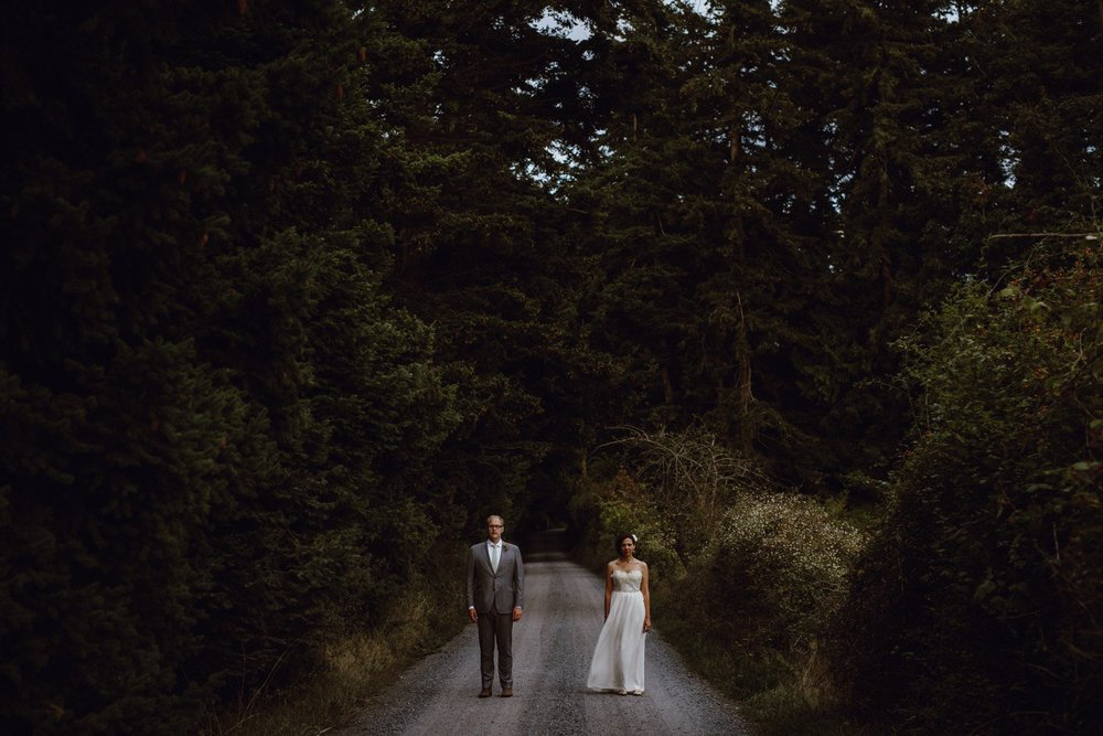A Lummi Island bride and groom portrait by Portland Wedding Photographer Catalina Jean