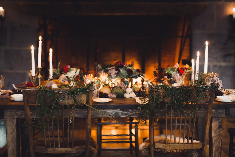 Head table at a Oregon vow renewal