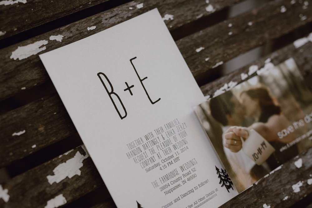 Photo of wedding invitation