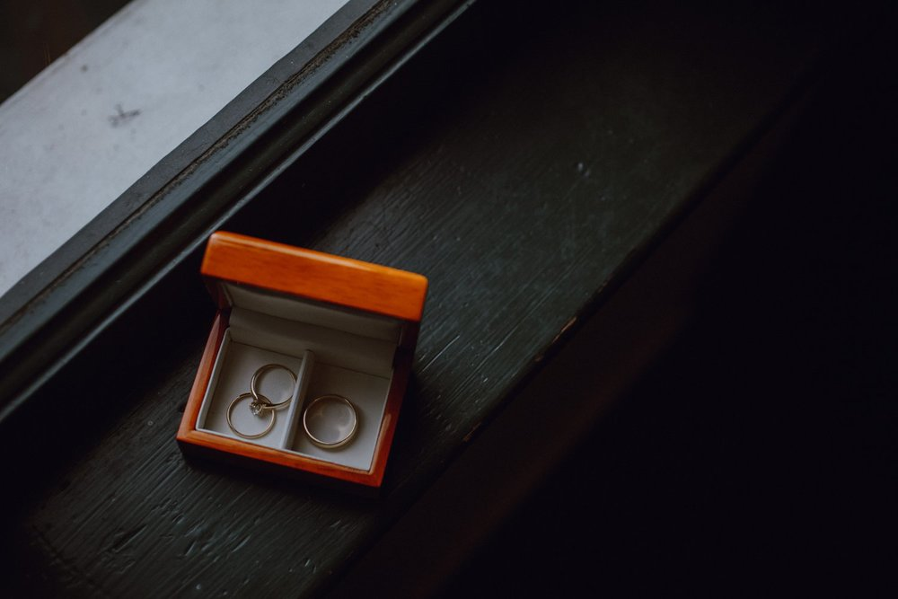 The wedding rings from a Portland wedding shot by Catalina Jean
