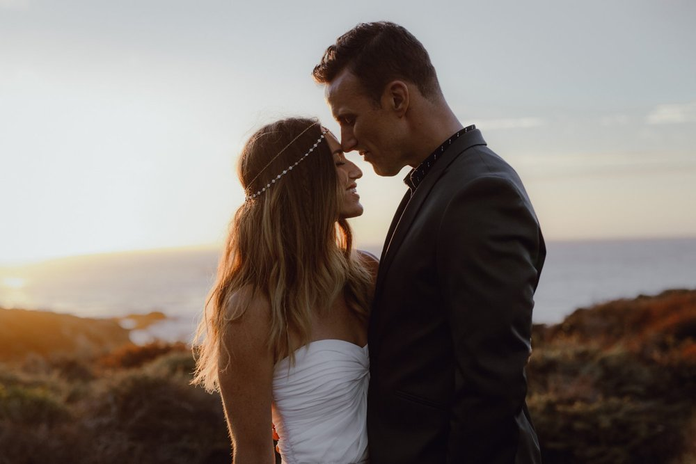 Sunset wedding photo in Big Sur by Catalina Jean
