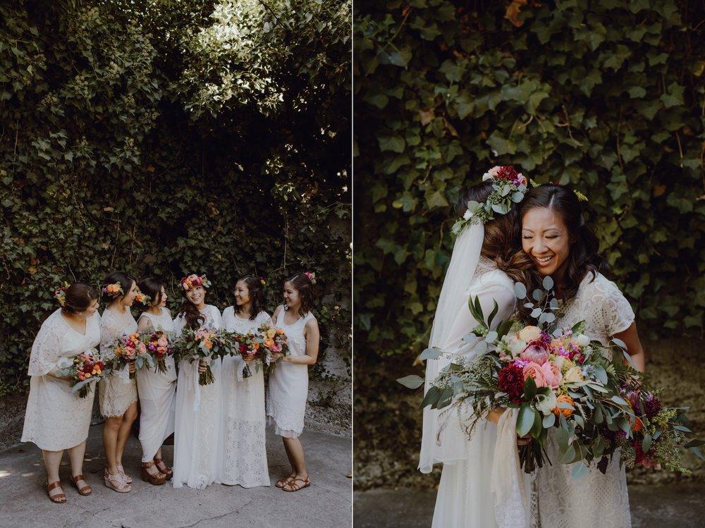 Bridesmaids in white and cream inspiration