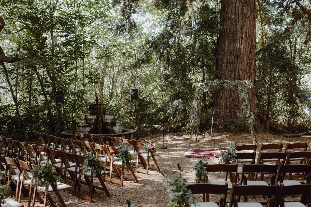 Redwoods ceremony site at Sand Rock Farm
