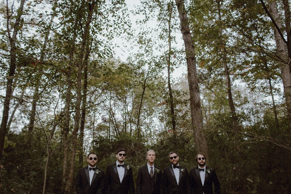 Groomsmen at Sweet Olive Farm