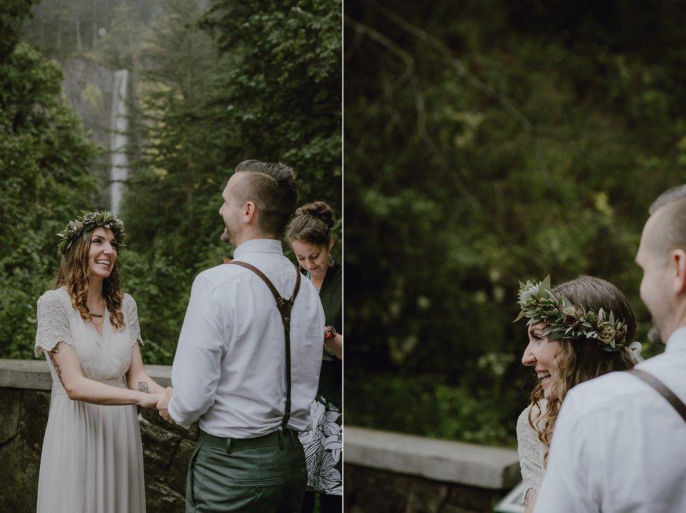 Latourell Falls wedding ceremony.
