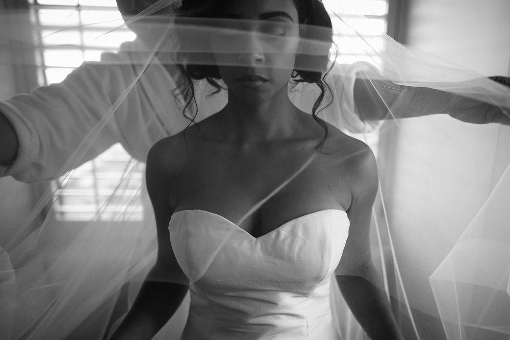 A bride getting ready at San Francisco City Hall