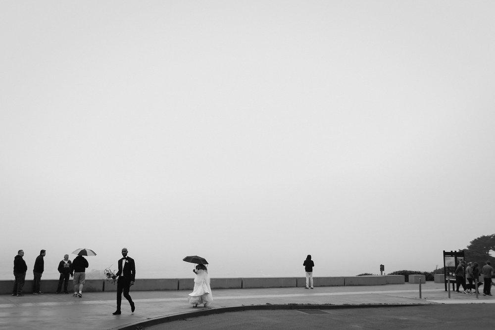 San Francisco outdoor wedding photo