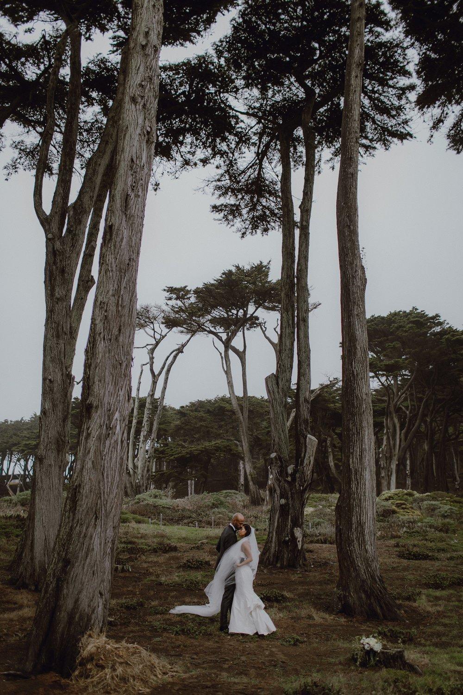 Outdoor bridal portrait in San Francisco