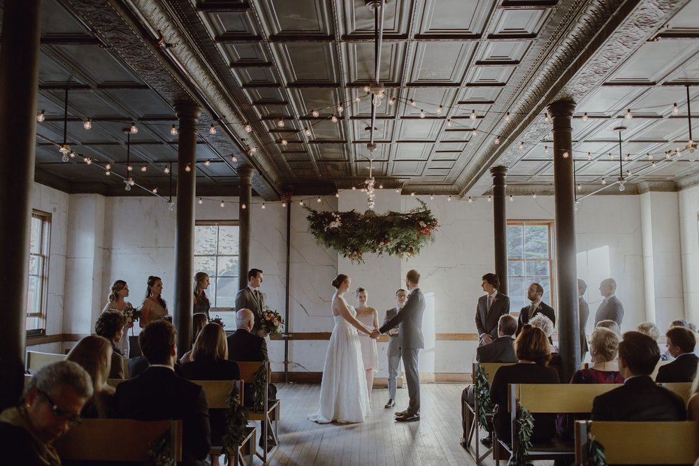 Wedding ceremony at the Marin Headlands Center for the Arts