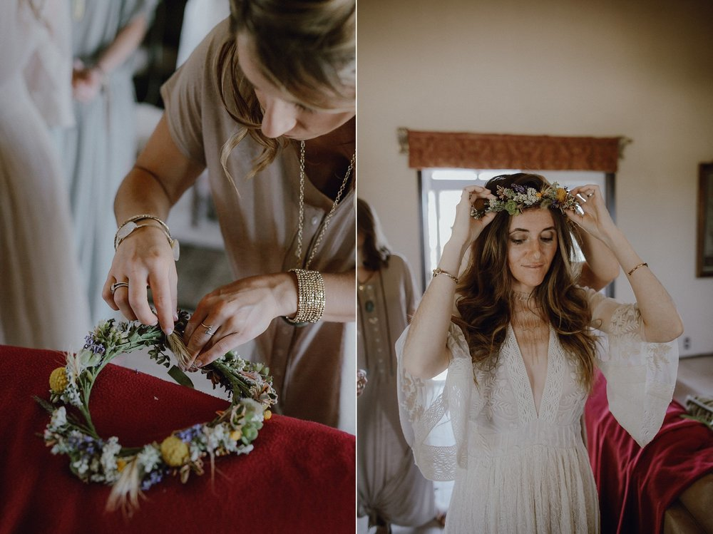 A flower crown by Big Sur Flowers Kate Healey