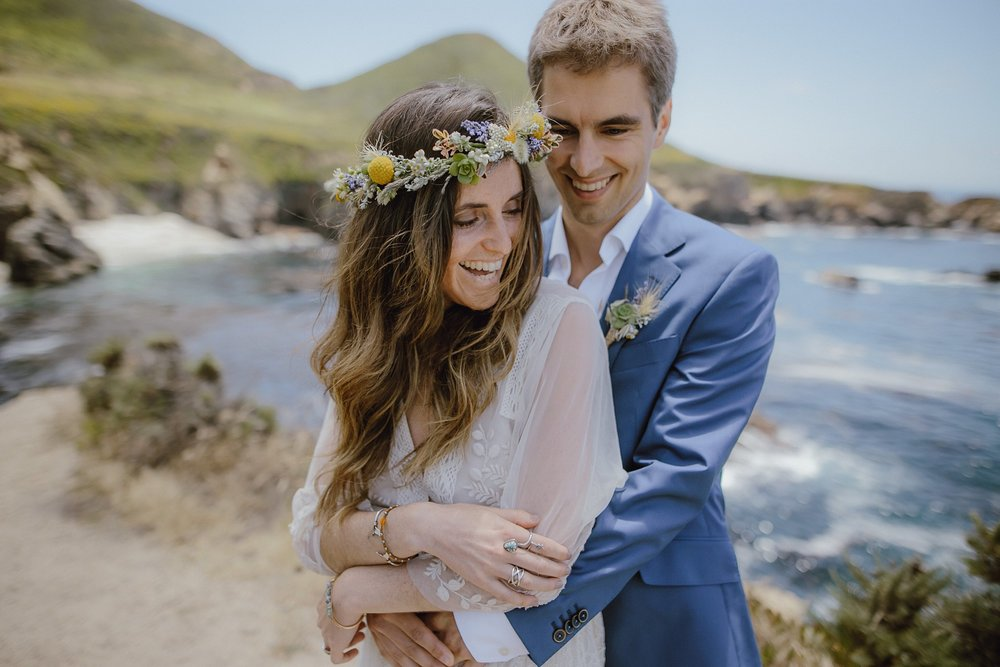 Wedding photos in Big Sur