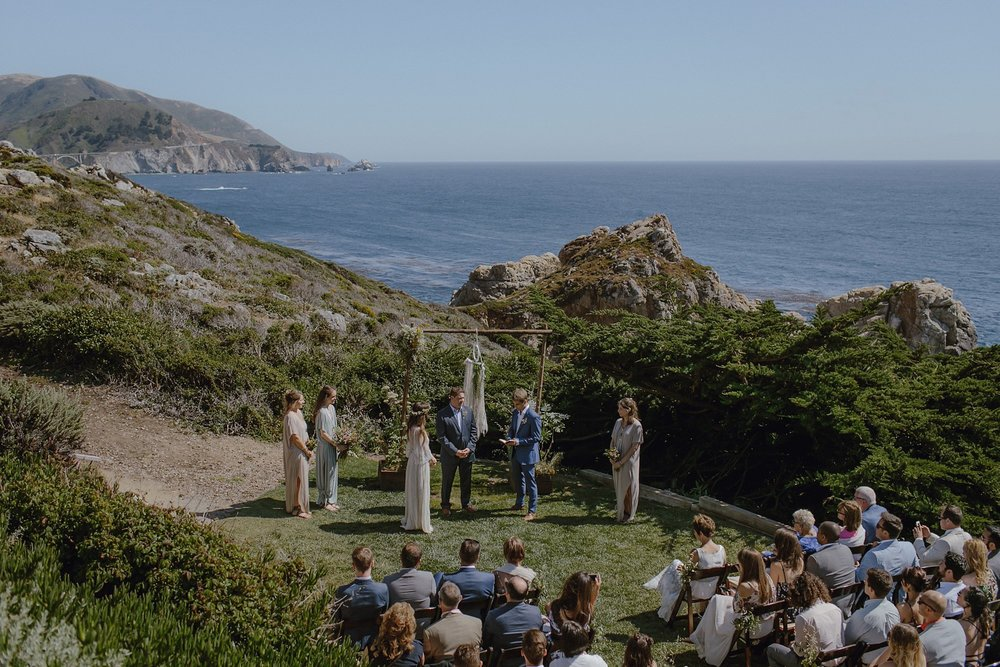 Ceremony area at Rocky Point Restaurant in Big Sur