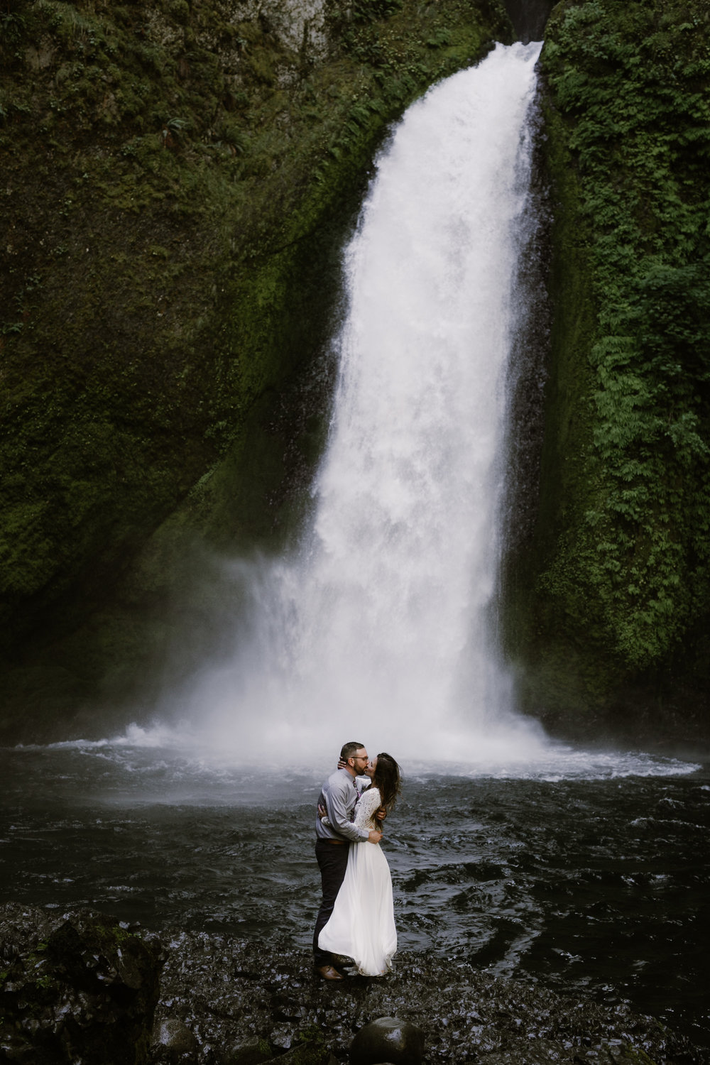 Wahclella Falls Elopement    EMILY + STEVE    View Post