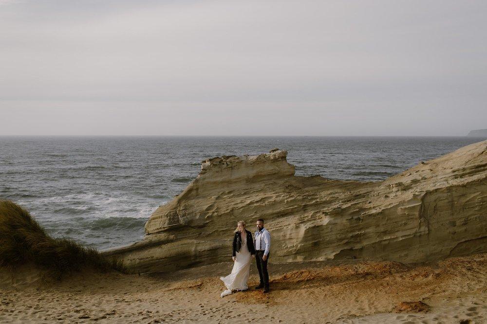 Cape Kiwanda Oregon Elopement Wedding