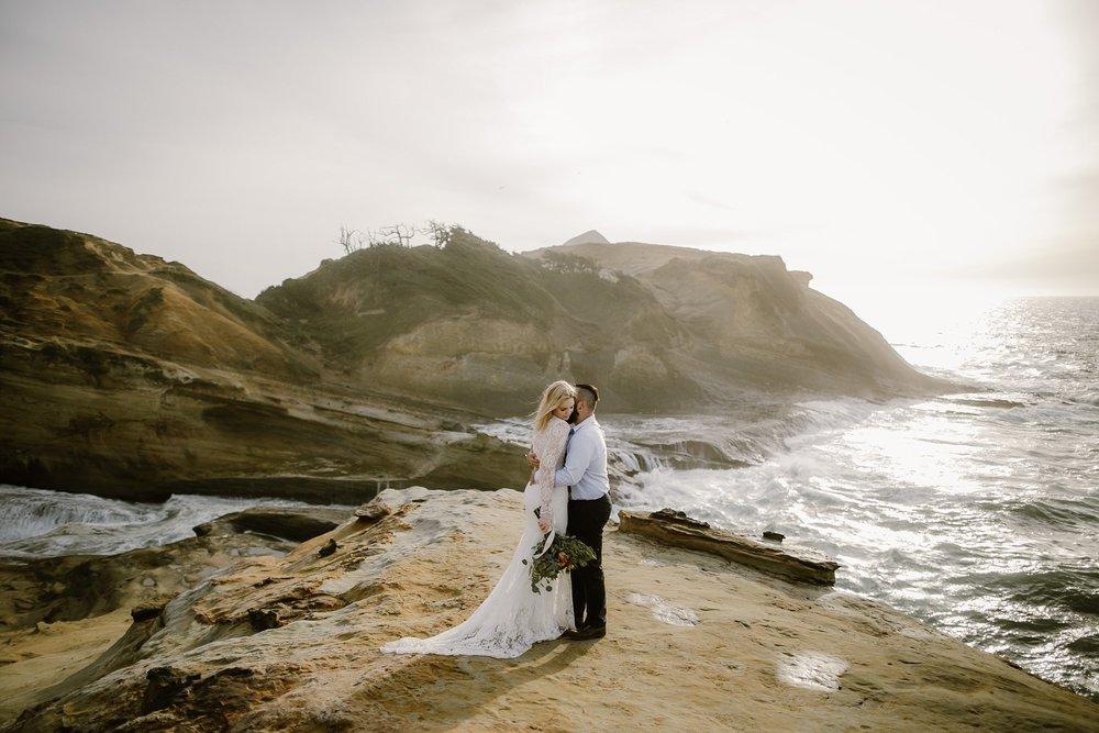 Cape Kiwanda Pacific City Wedding Photo