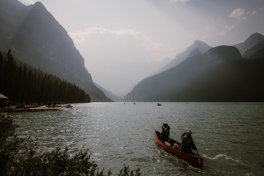Canoes in Banff Canada