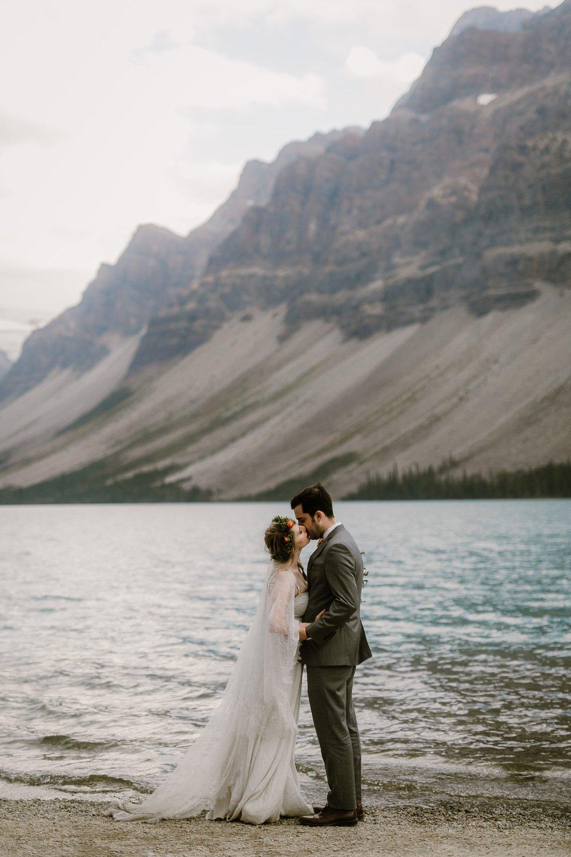 Adventurous elopement in Banff Alberta Canada