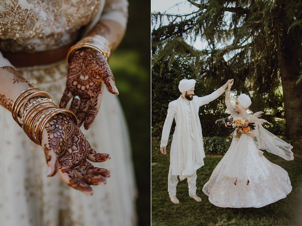 Sikh wedding with henna in Oregon by Catalina Jean Photography