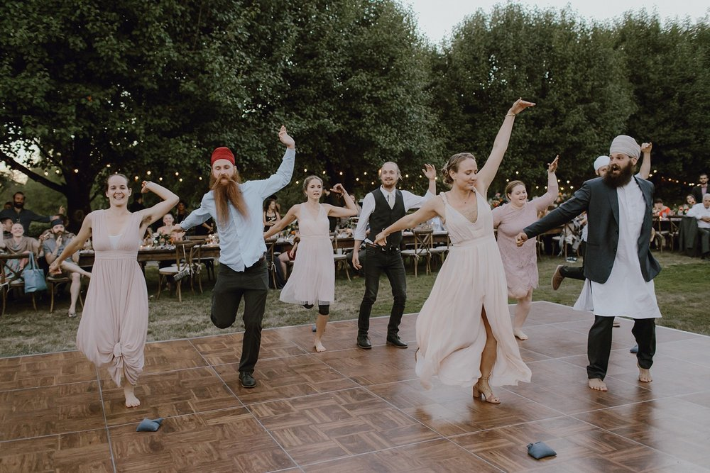 Bohemian-inspired sikh wedding reception
