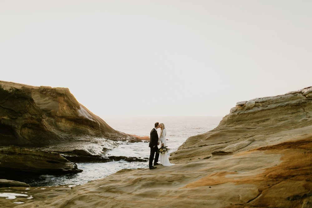 Wedding portrait at the Oregon Coast